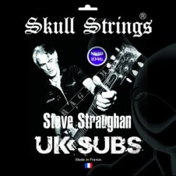 "Skull Strings Steve Sraughan ""UK SUBS"" 10-46 - struny do gitary"