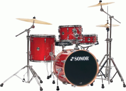 Sonor Safari SSE Red Galaxy Sparkle Shell Set - perkusja akustyczna