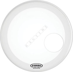 "Evans 20"" Coated White - naciąg do perkusji"