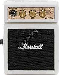 Marshall Micro Amp MS 2W White Limited - mini wzmacniacz gitarowy