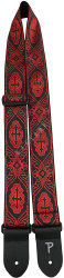 "Perri's 7071 2"" Jacquard Cross Black Red - pasek do gitary"