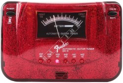Fender AG 6 Red - tuner