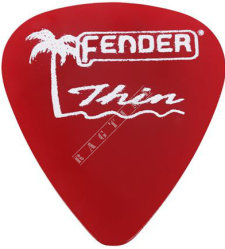 Fender California Clear Pick 351 CA Red Thin - piórko do gitary